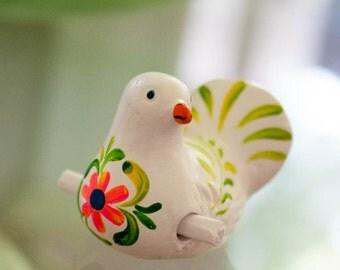 Ceramic pigeon birds