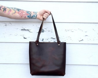Leather Carry Tote