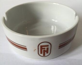 Vintage FH Alfoldi Porcelain Ashtray Made In Hungary / Porcelain