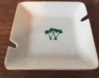 Vintage Double Palm Tree Ashtray