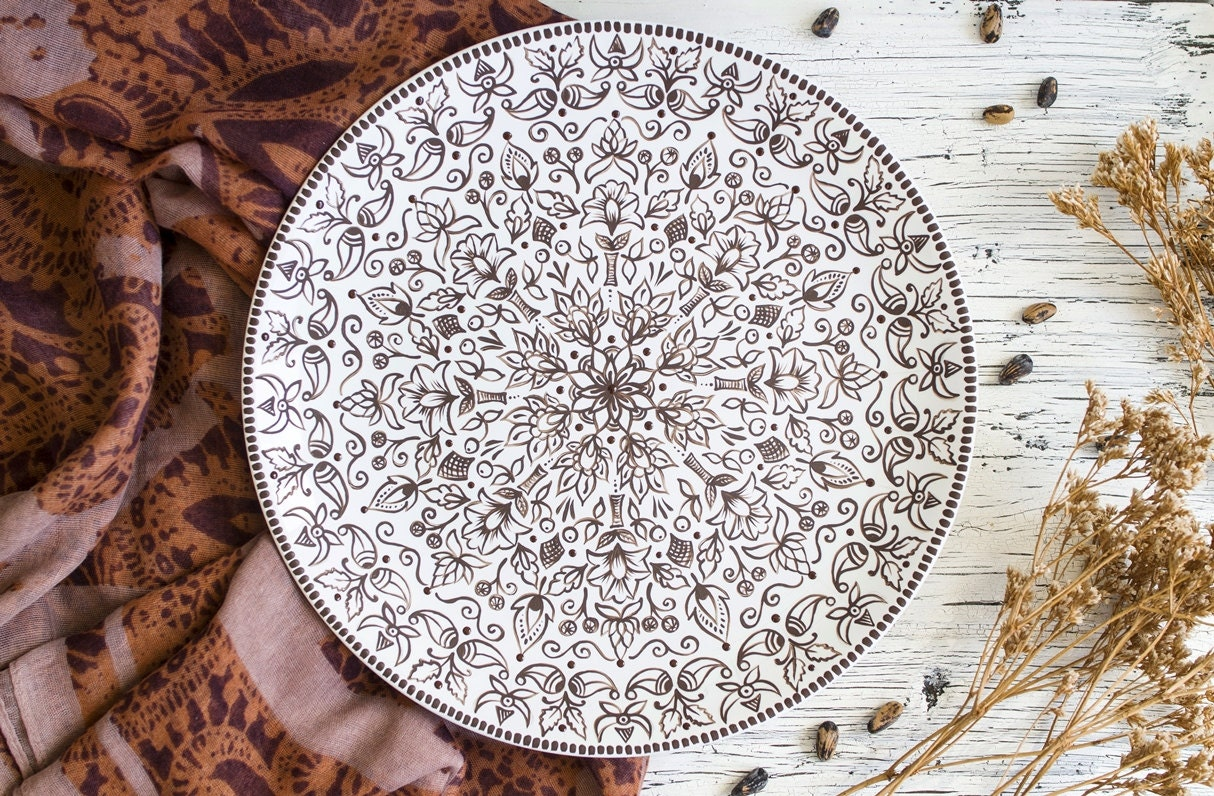 Indian plate Decorative plate Wall hangings Home accents