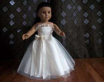 """18"""" Doll Bridal Formal Gown in Ivory - Bridal Gown for any 18"""" Doll"""