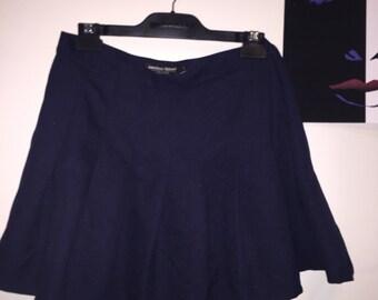 90s TENNIS SKIRT navy blue AMERICAN apparel