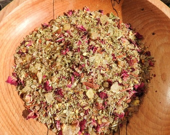 Hand blended Ostara Spring equinox incense for burning on charcoal block pagan wicca witchcraft