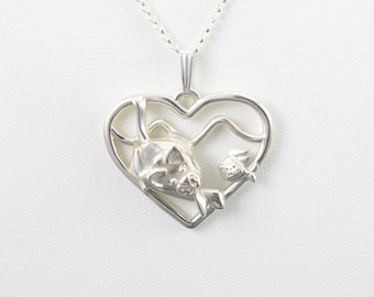 Sterling Silver Siamese Cat Necklace fr Donna Pizarro's Animal Whimsey Collection of Silver Cat Pendants and Custom Cat Jewelry