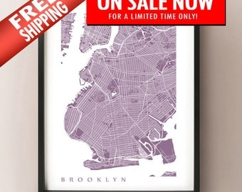 Brooklyn Map Print - New York Poster