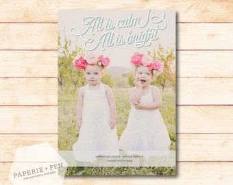 All is Calm, all is Bright  // Holiday Photo Card