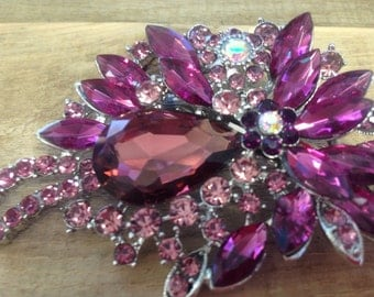 Deep purple brooch hair clip