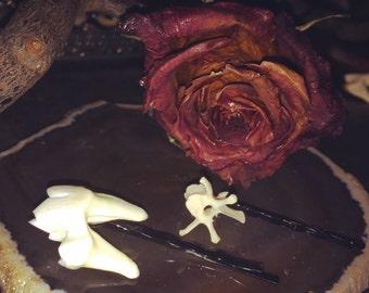 Oddity Hair Pins, Bone Jewelry