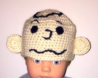 Charlie Brown Hat - Peanuts Hat - Baby Kids Adult Charlie Brown Gift