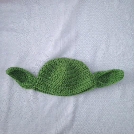 Crochet Yoda Hat : Yoda Hat - Crochet Star Wars Yoda Costume Hat - Kids Star Wars Costume ...