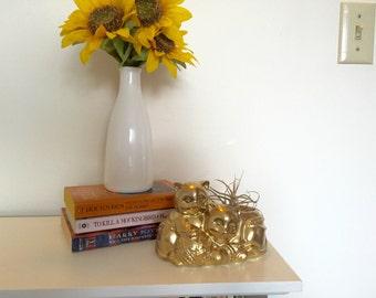 Gold Cat Planter #3