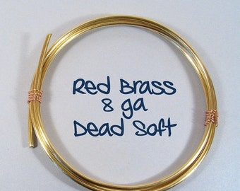 10% OFF 8ga 5ft DS Red Brass Wire