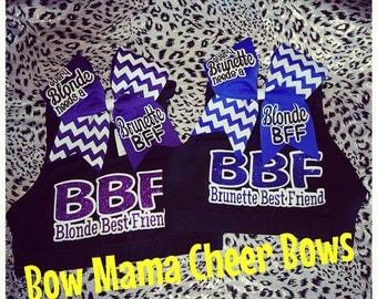 Blonde Brunette Best Friend Sports Bra & Bow Sets