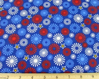 Salute to Summer Fireworks Fabric From Quilting Treasures