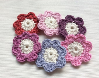 Set Of 6 Crochet Flowers