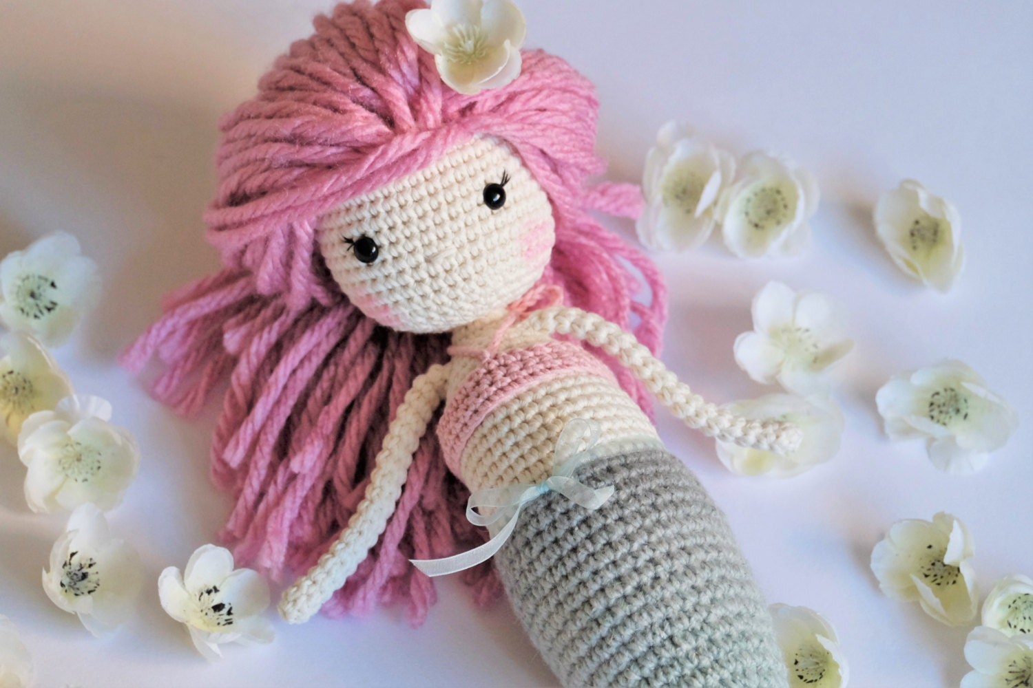 Crochet Amigurumi Mermaid Ready To Ship Plush Doll Gifts for