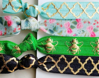 Spring Bee 4 Elastic Hair Ties