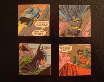 Refrigerator Magnets From Recycled Vintage Comic Books - Pop Culture Fridge Magnets