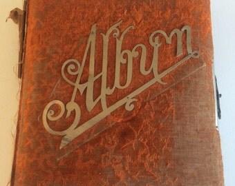 Victorian Photo Album  Antique Velvet Photographic Album Cabinet Cards