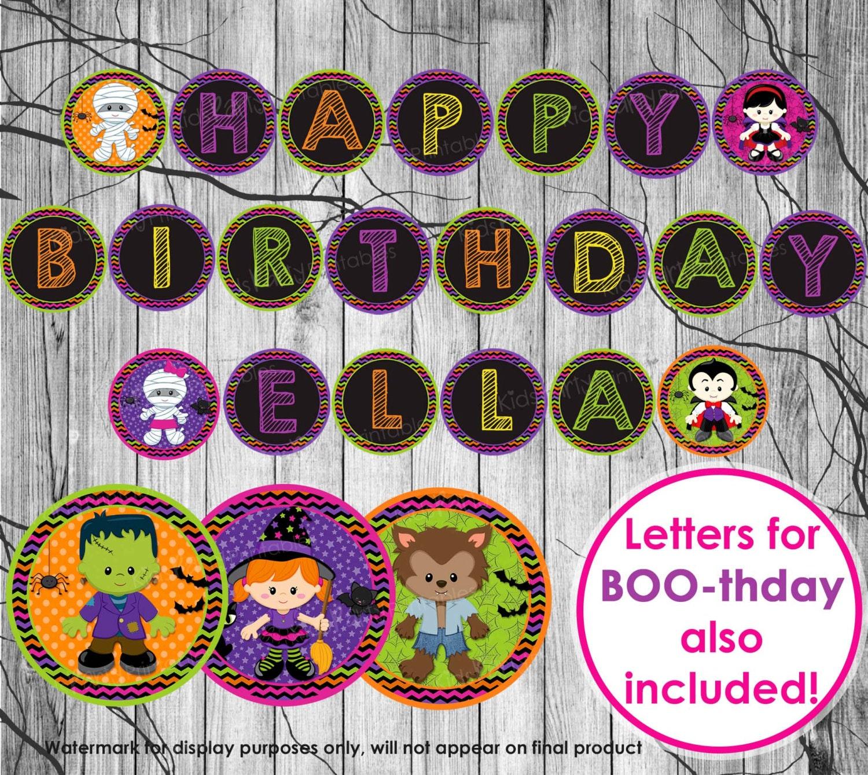 zoom - Halloween Birthday Party Decorations