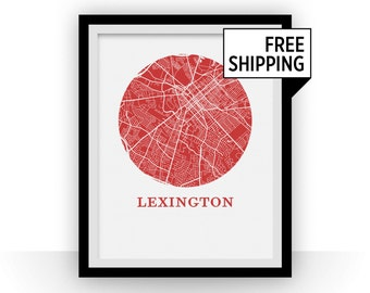 Lexington Map Print - City Map Poster