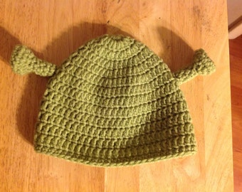 Ogre Beanie Hat Sizes from newborn to adult ..  All Colors avail.. made to order