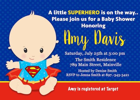 superman baby shower invitation baby invitation superhero first
