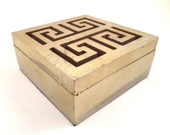 Golden Wood Jewelry Box - Oriental Scroll - Jewelry Organizer