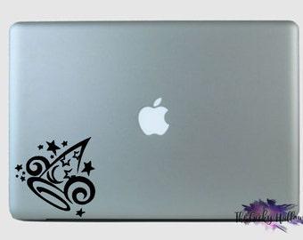 Sorcerer Mickey's Hat - Fantasia - Laptop - Macbook - Car Window - Vinyl - Decal - Sticker