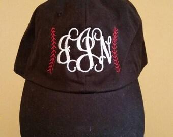 Baseball monogrammed hat