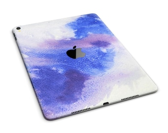 Blue and Pink Watercolor Spill Full Body Skin Decal for the Apple iPad Pro, Air or Mini (All Models Available)