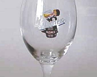 Rare Vintage Fischer Alsace Tulip Stemmed Beer Glass 0.4L New Made in Italy