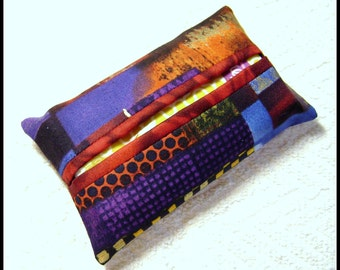 Abstract Fabric - Tissue Holder - Pocket Tissue Holder - Handmade - Tissue - Kleenex - Tissue Holder - Cotton Fabric - TC62