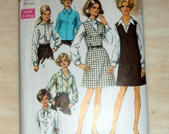 Jumper and blouse pattern, Simplicity 8408 Sewing pattern, size 40, Jumper and top, 60s pattern, Epsteam