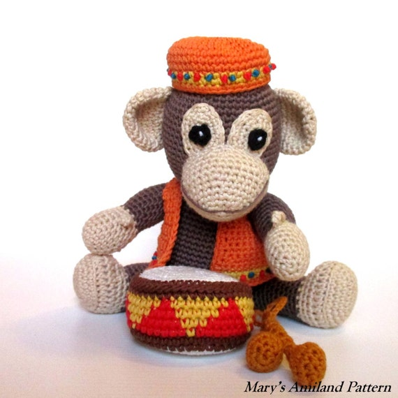 Amigurumi Monkey Etsy : Arthur Monkey The Ami Amigurumi Crochet Pattern Digital