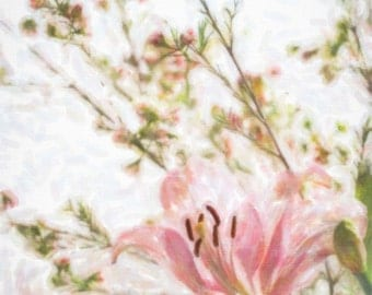 Watercolor Print of Flower Macro Photography Print, Fine Art Photography,  Print, Wall Art