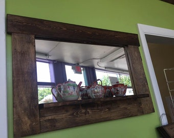 Rustic / Primitive Mirror Home Decor Wall Mirror Reclaimed Wood