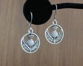 Scottish Thistle earrings ~ Outlander inspired