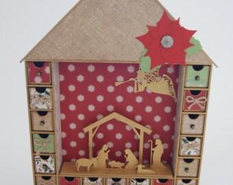 Countdown Advent House Christmas Calendar