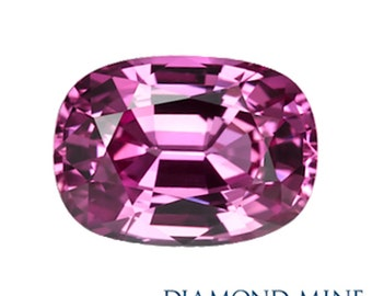 A Beautiful NaturalSapphire 2.27 Pink Cushion Extra