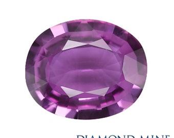 A Beautiful NaturalSapphire 1.56 Pink Oval Extra