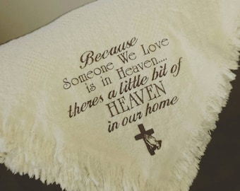 Personalized Throw Afghan - Bereavement Throw - In memory of gift
