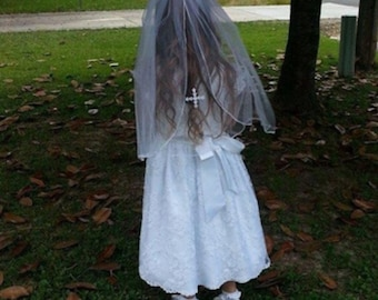 Girl's First Communion Veil white color