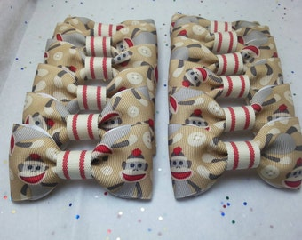 Sock Monkey Party Bow Ties (Set of 12)  Matching Garland Available