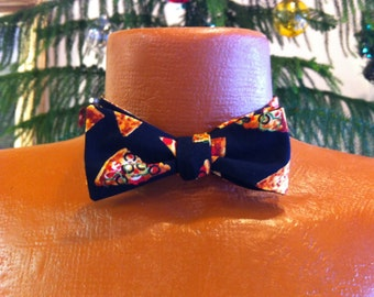 Pizza Lover-Men's Bow Tie-adjustable-free shipping