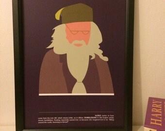 Dumbledore Harry Potter Print Handmade A4
