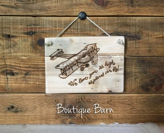 Airplane airplane nursery airplane wall art transportation - Hemp rope craft ideas an authentic rustic feel ...