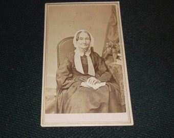 Vintage CDV photo of an iconic old woman