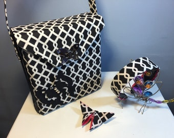 Black & White Butterfly Purse